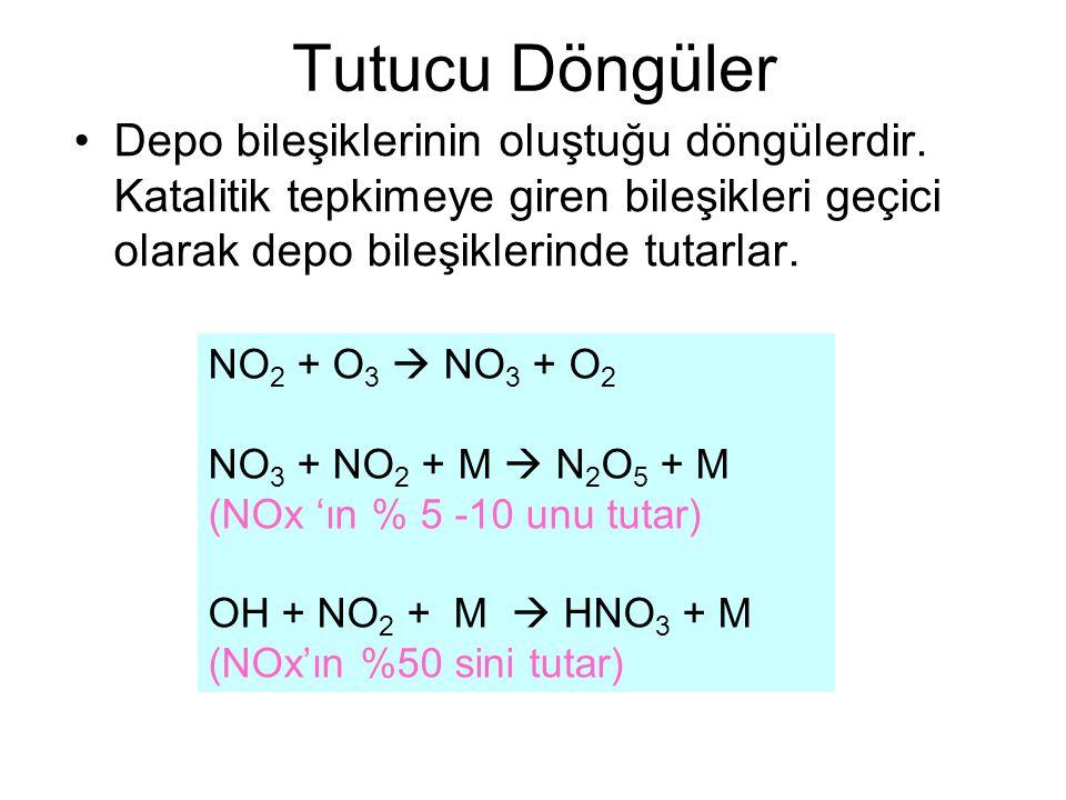Tutucu Döngüler Depo bileşiklerinin oluştuğu döngülerdir. Katalitik tepkimeye giren bileşikleri geçici olarak depo bileşiklerinde tutarlar.