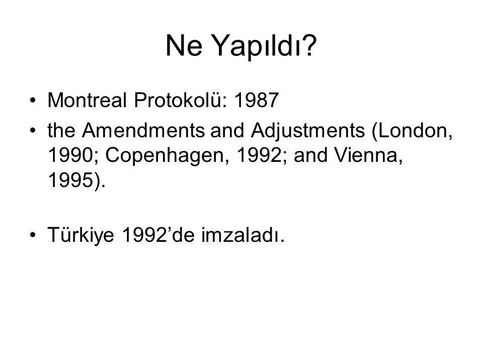 Ne Yapıldı Montreal Protokolü: 1987
