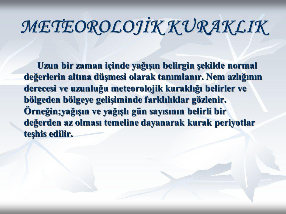 METEOROLOJİK KURAKLIK