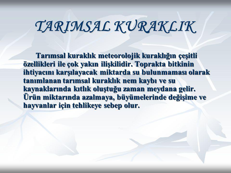TARIMSAL KURAKLIK