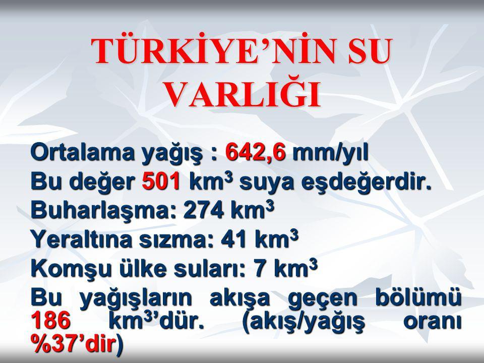 TÜRKİYE'NİN SU VARLIĞI