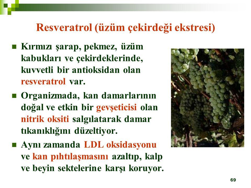 Resveratrol (üzüm çekirdeği ekstresi)