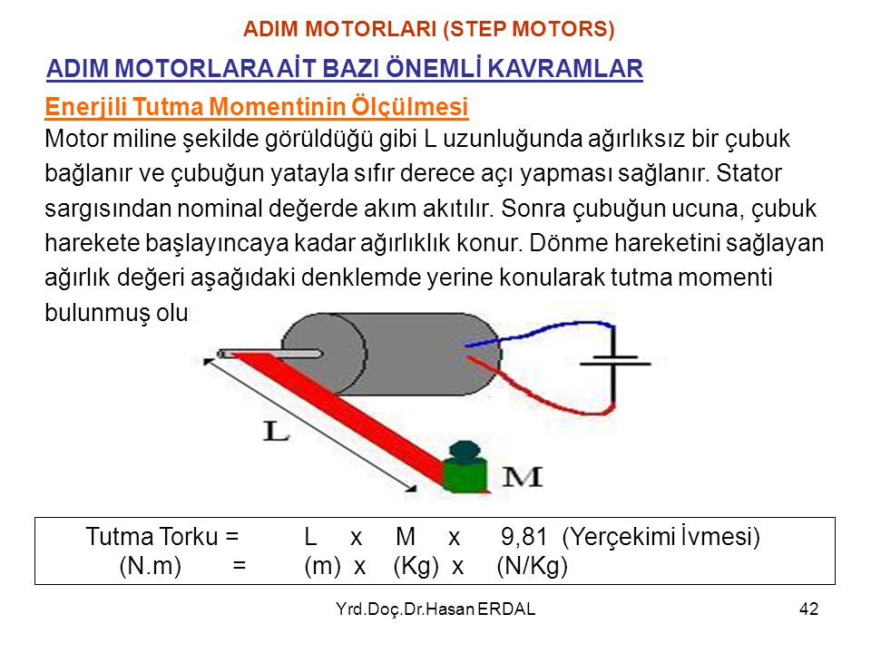 ADIM MOTORLARI (STEP MOTORS)