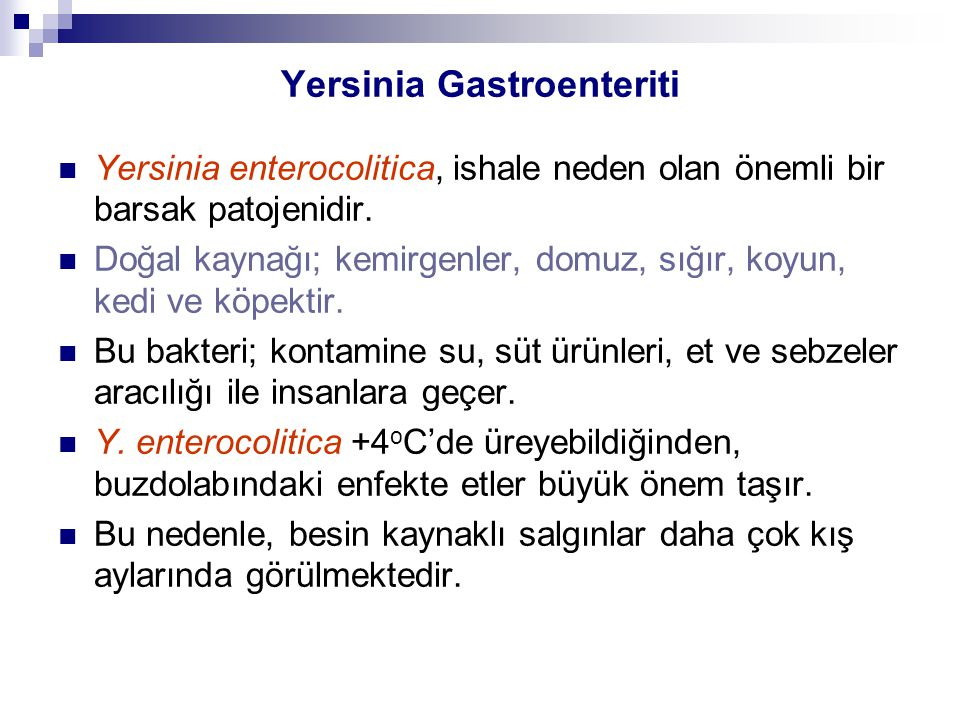 Yersinia Gastroenteriti