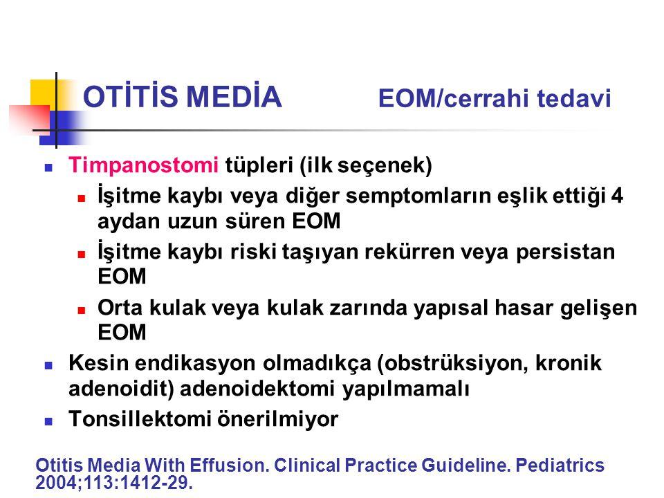 OTİTİS MEDİA EOM/cerrahi tedavi
