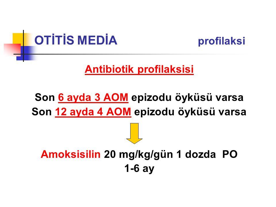 OTİTİS MEDİA profilaksi