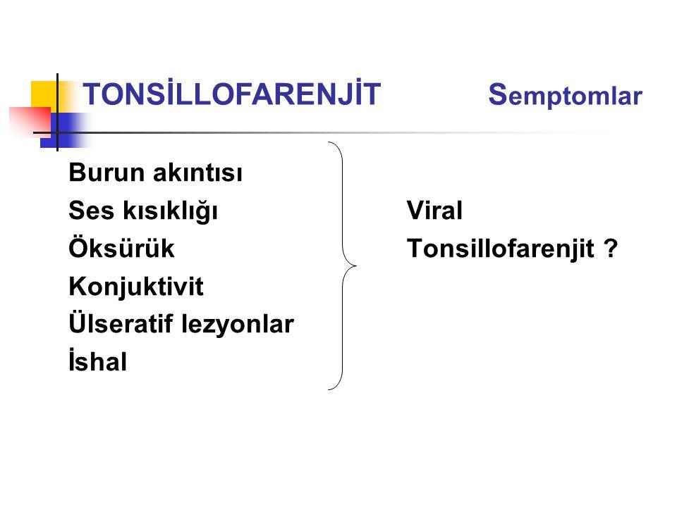 TONSİLLOFARENJİT Semptomlar