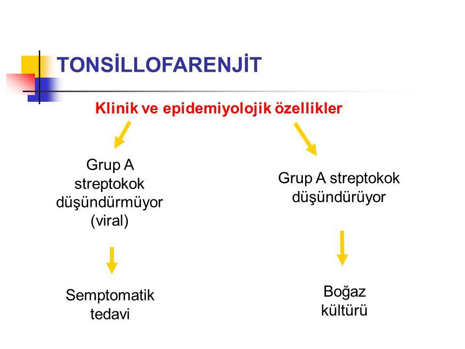 Klinik ve epidemiyolojik özellikler