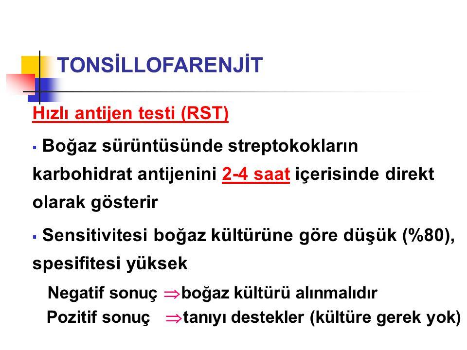 TONSİLLOFARENJİT Hızlı antijen testi (RST)