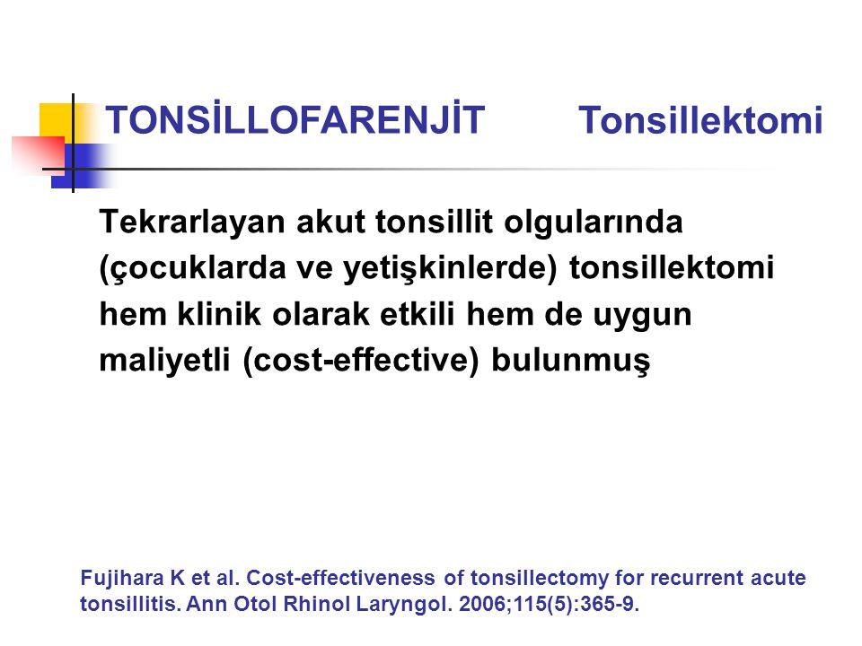 TONSİLLOFARENJİT Tonsillektomi