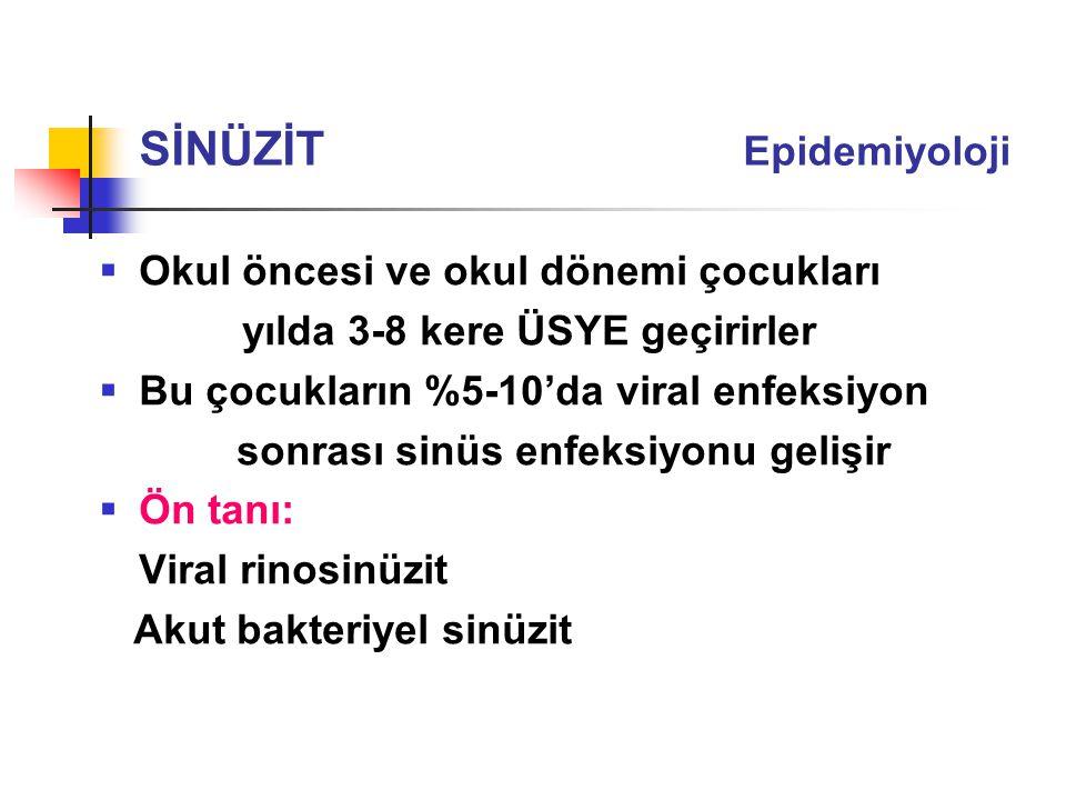 SİNÜZİT Epidemiyoloji