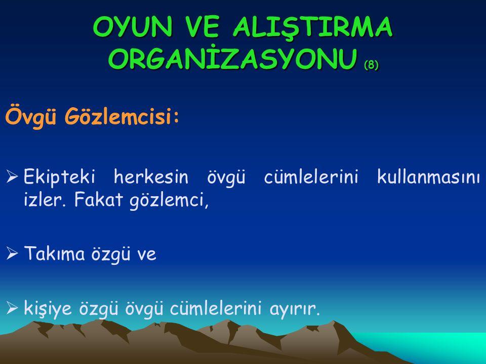 OYUN VE ALIŞTIRMA ORGANİZASYONU (8)