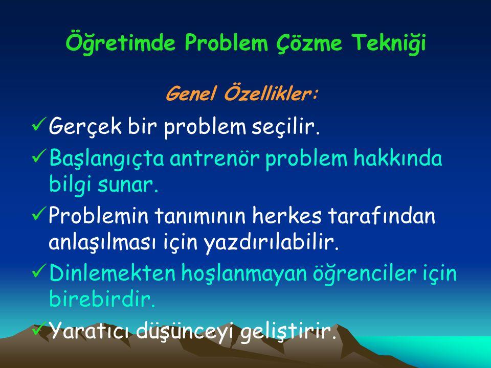 Öğretimde Problem Çözme Tekniği