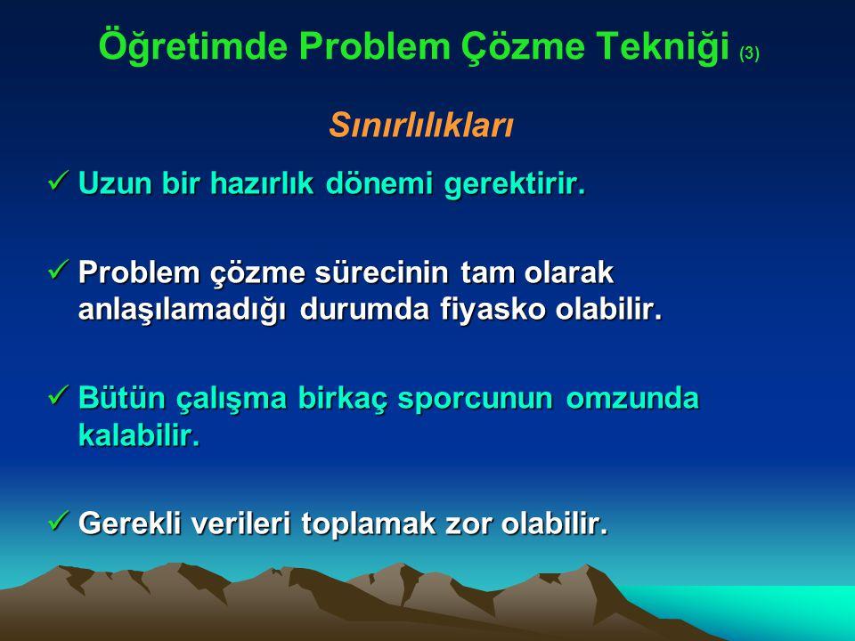 Öğretimde Problem Çözme Tekniği (3)