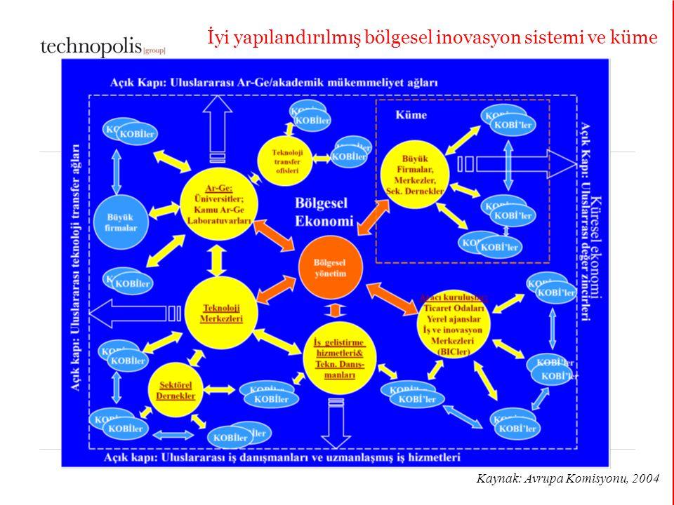 İyi yapılandırılmış bölgesel inovasyon sistemi ve küme
