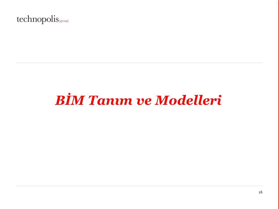 BİM Tanım ve Modelleri