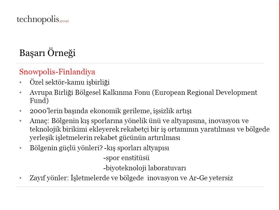 Başarı Örneği Snowpolis-Finlandiya Özel sektör-kamu işbirliği