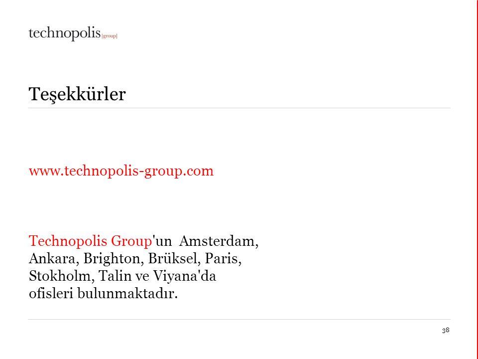 Teşekkürler www.technopolis-group.com