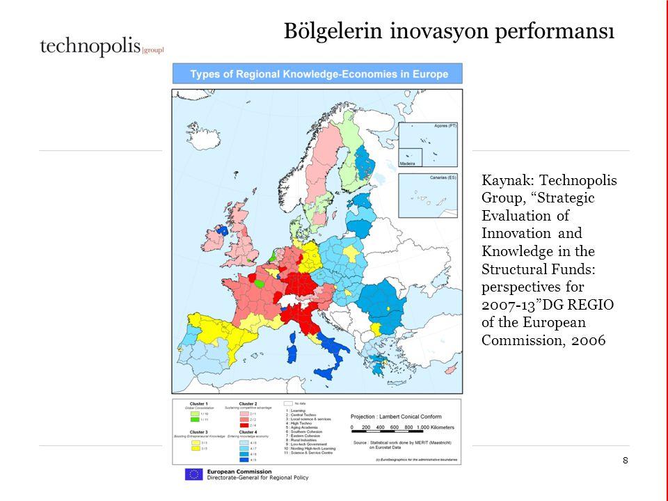 Bölgelerin inovasyon performansı