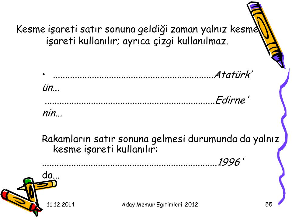 Aday Memur Eğitimleri-2012