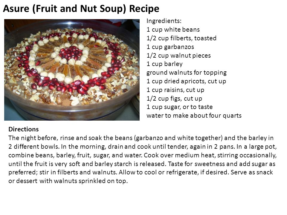Asure (Fruit and Nut Soup) Recipe