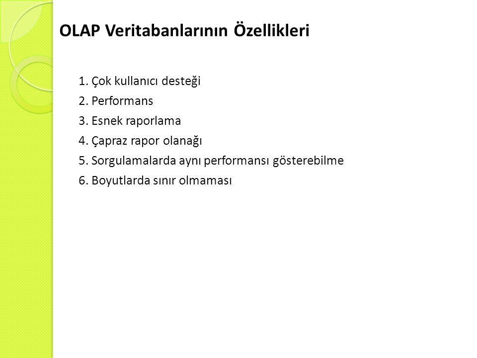 OLAP Veritabanlarının Özellikleri