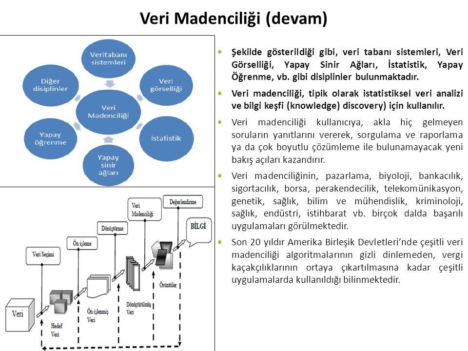 Veri Madenciliği (devam)