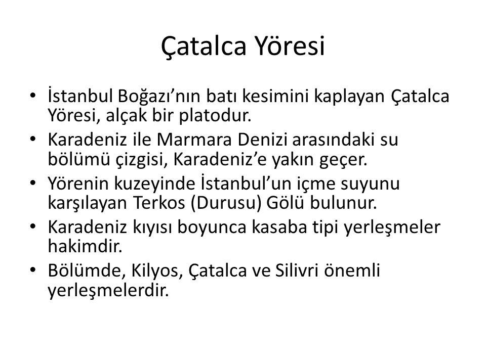 Çatalca Yöresi İstanbul Boğazı'nın batı kesimini kaplayan Çatalca Yöresi, alçak bir platodur.