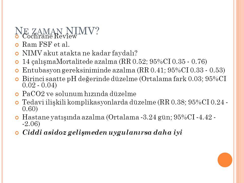 Ne zaman NIMV Cochrane Review Ram FSF et al.