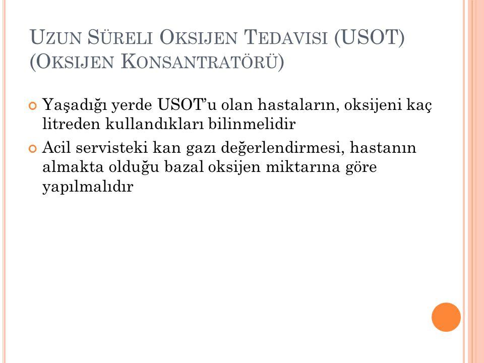 Uzun Süreli Oksijen Tedavisi (USOT) (Oksijen Konsantratörü)