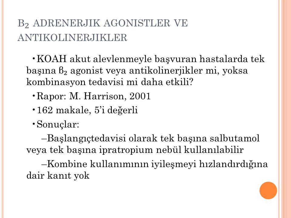 β₂ adrenerjik agonistler ve antikolinerjikler