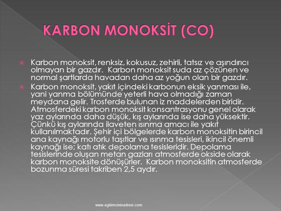 KARBON MONOKSİT (CO)