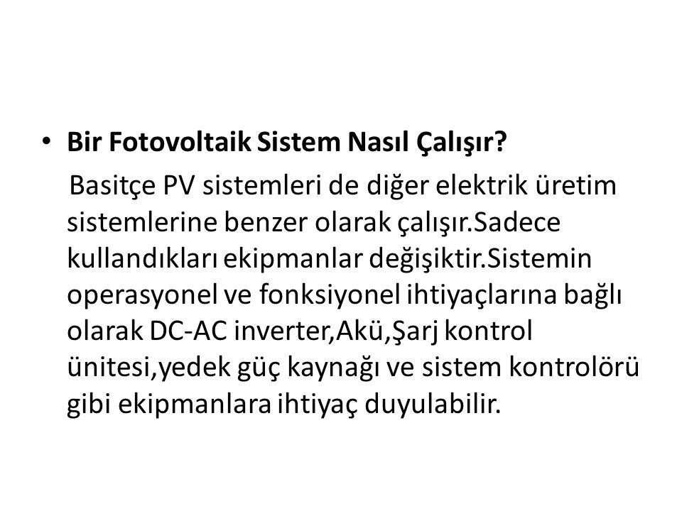 Bir Fotovoltaik Sistem Nasıl Çalışır