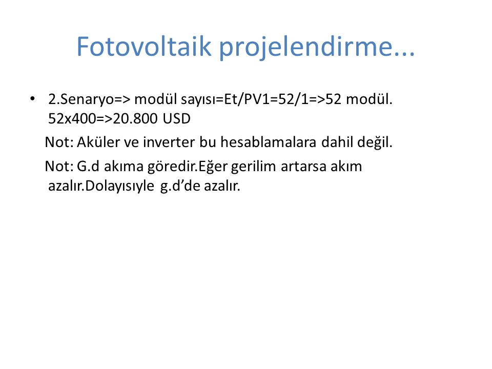 Fotovoltaik projelendirme...