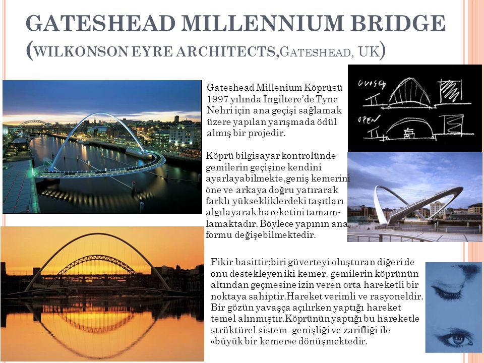 Gateshead Millennium Bridge (Wilkonson EYRE ARCHITECTS,Gateshead, UK)