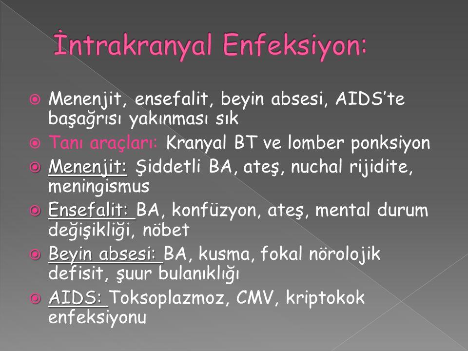 İntrakranyal Enfeksiyon: