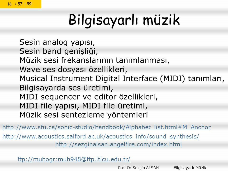 Bilgisayarlı müzik Sesin analog yapısı, Sesin band genişliği, Müzik sesi frekanslarının tanımlanması,
