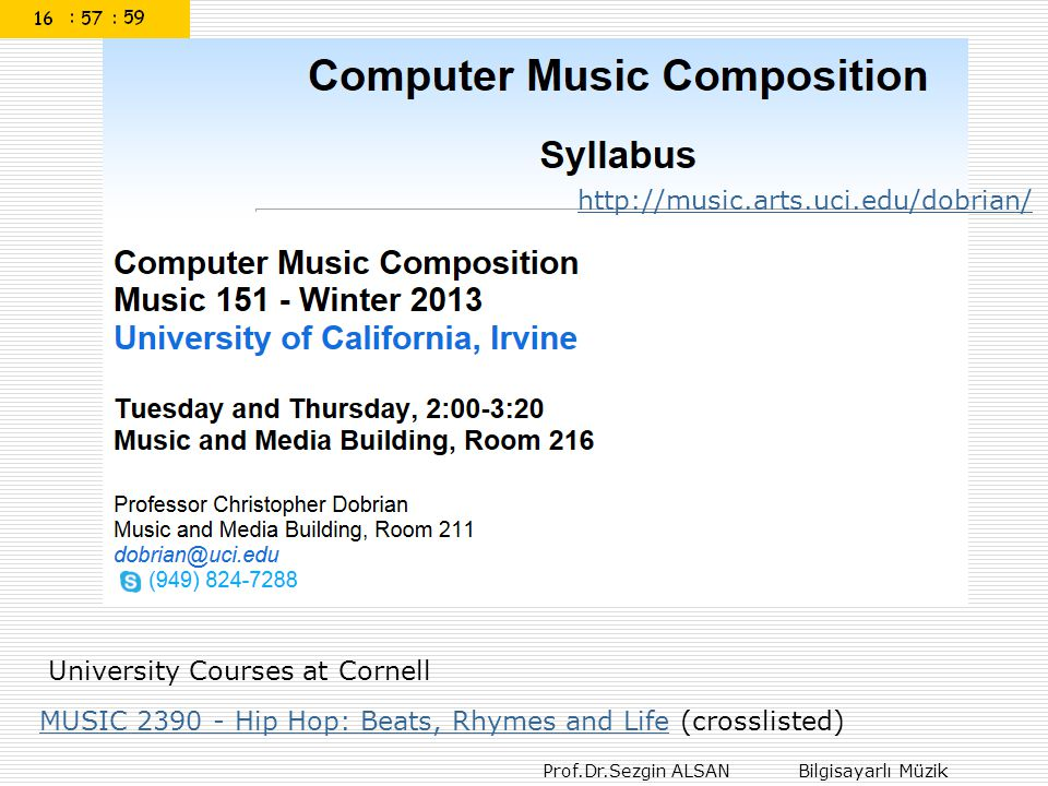 http://music.arts.uci.edu/dobrian/ University Courses at Cornell.
