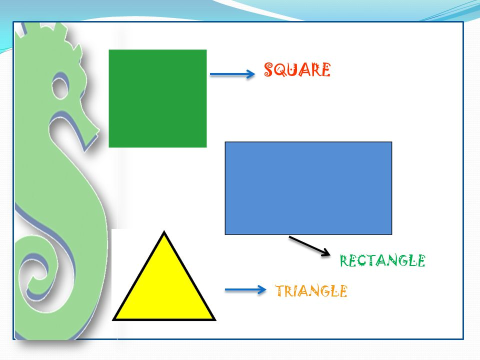 SQUARE RECTANGLE TRIANGLE