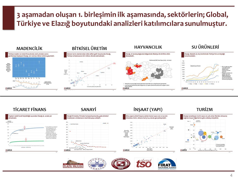 2. aşamada, odak sektörlerin belirlenmesi çalışması 17 çalışma grubu tarafından ayrı ayrı gerçekleştirilmiştir.