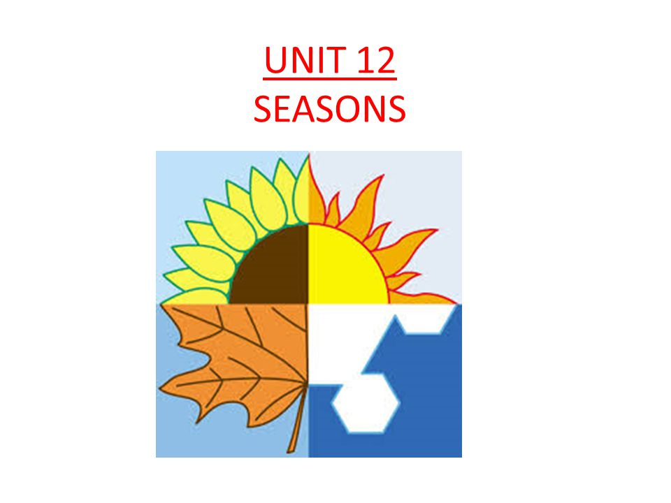 UNIT 12 SEASONS