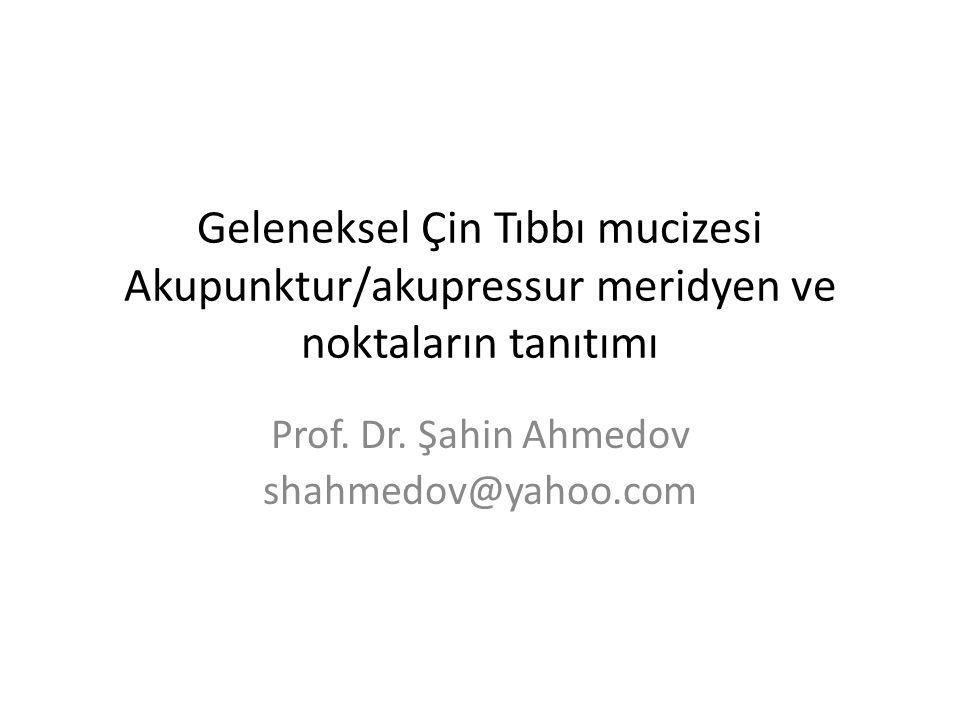Prof. Dr. Şahin Ahmedov shahmedov@yahoo.com