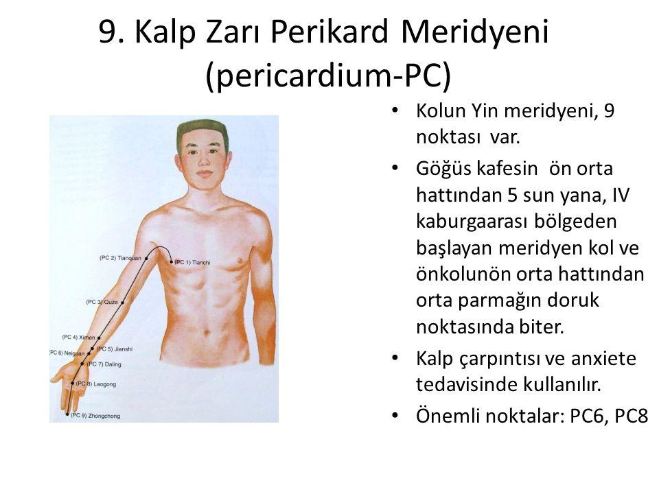 9. Kalp Zarı Perikard Meridyeni (pericardium-PC)