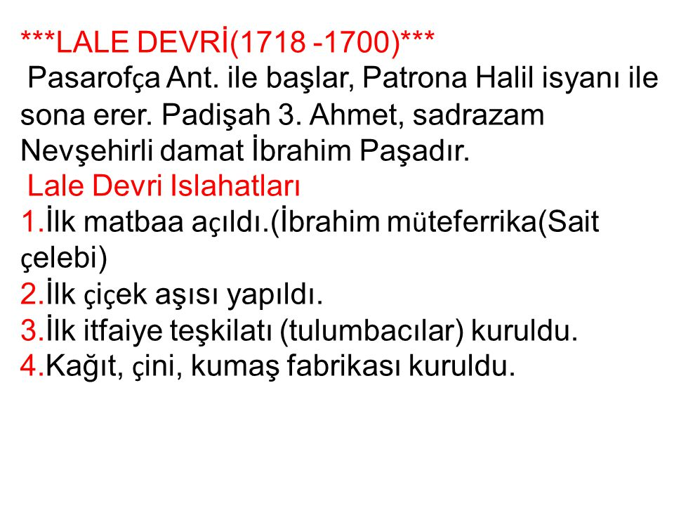 ***LALE DEVRİ(1718 -1700)***