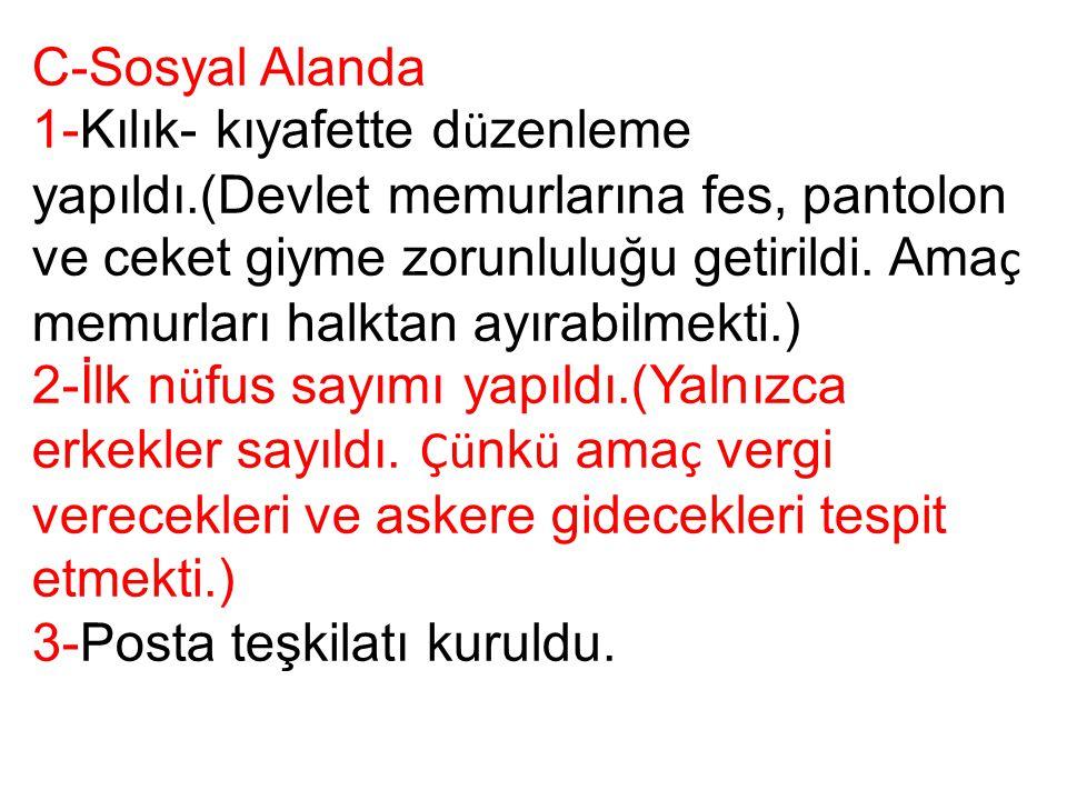 C-Sosyal Alanda