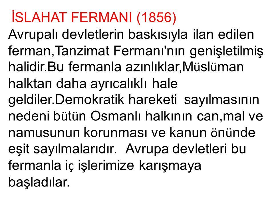 İSLAHAT FERMANI (1856)