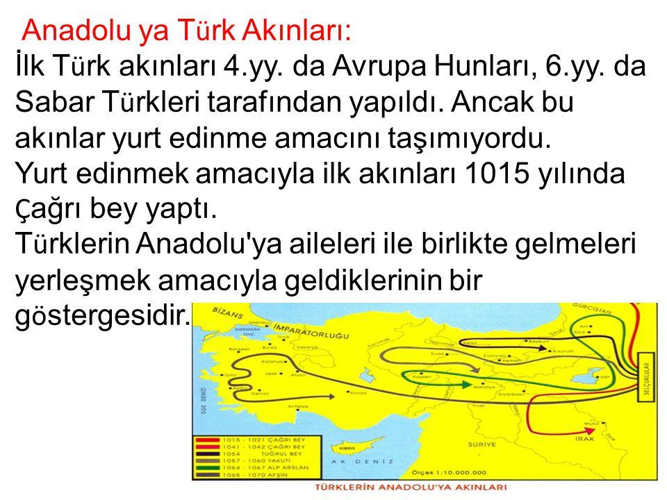 Anadolu ya Türk Akınları: