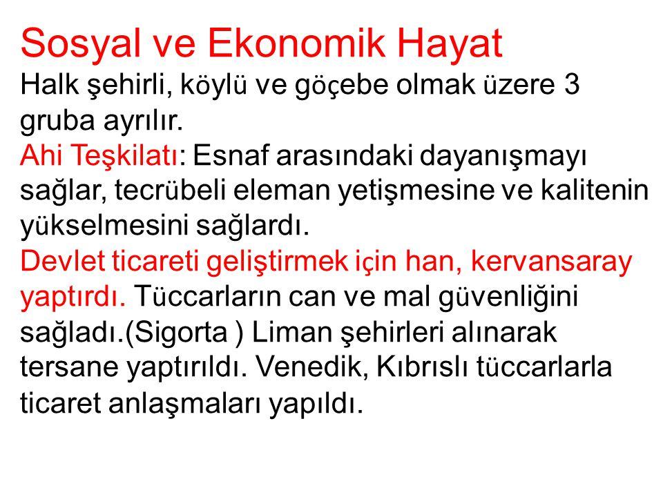 Sosyal ve Ekonomik Hayat