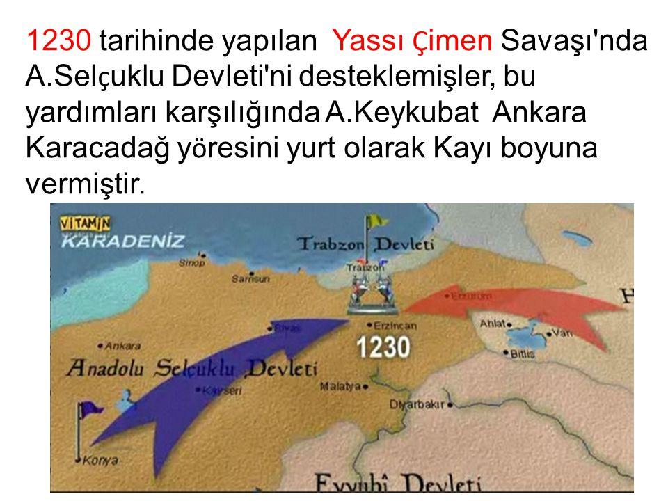 1230 tarihinde yapılan Yassı Çimen Savaşı nda A