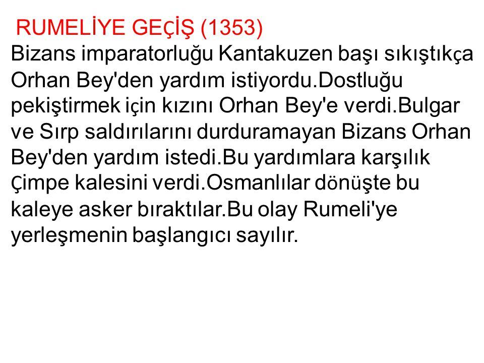 RUMELİYE GEÇİŞ (1353)